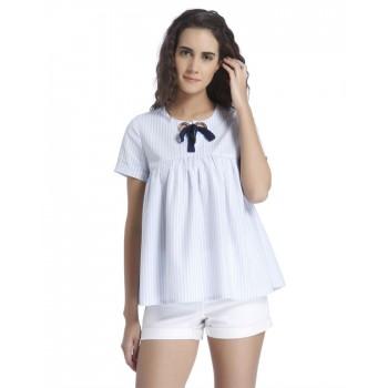 Vero Moda Women's Half Sleeve White Top