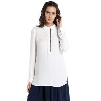 Vero Moda Women's Full Sleeve White Top