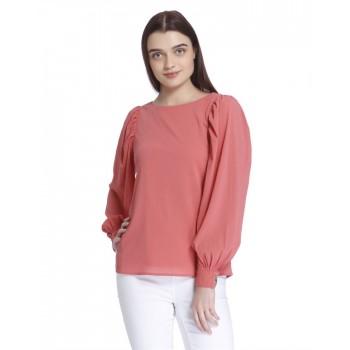 Vero Moda Women's Full Sleeve Pink Top