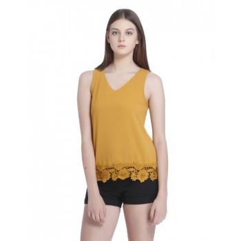 Vero Moda Women's Sleeveless Yellow Top