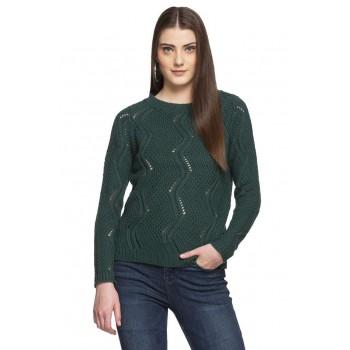 Vero Moda Women Casual Wear Self Design Sweatshirt