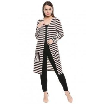 Vero Moda Women Casual Wear Striped Cardigan