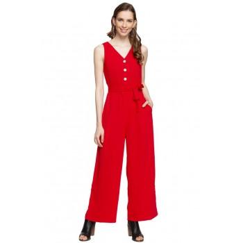 Vero Moda Women Solid Casual Wear Jump Suit