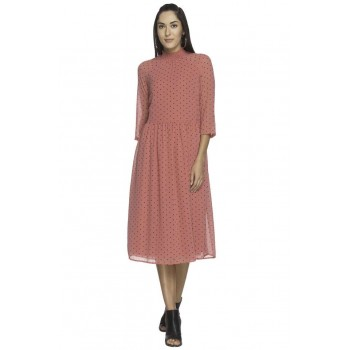 Vero Moda Women Casual Wear Polka Print Dress