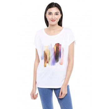 Vero Moda Women Casual Wear Chest Print T-shirt