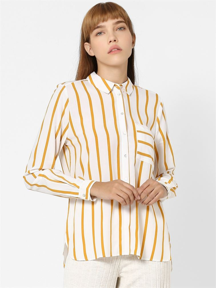 Only Women Casual Wear Off White Shirt