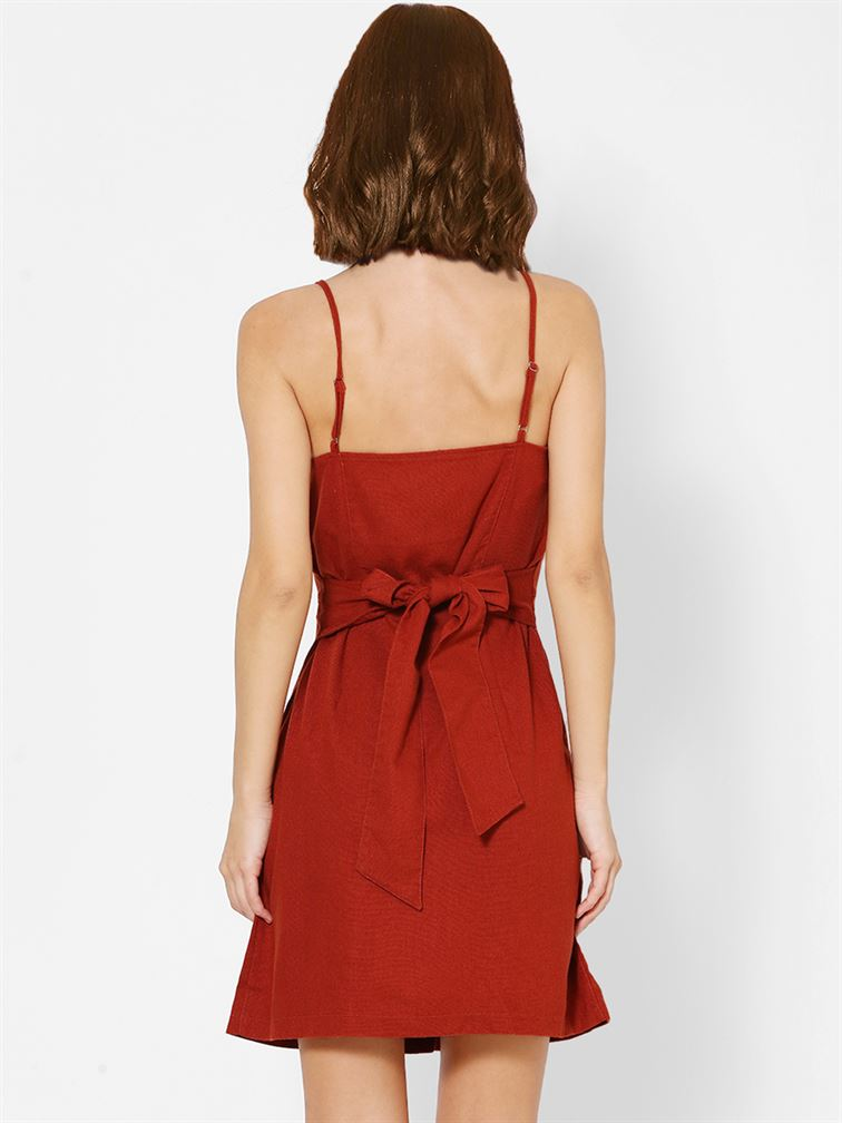 Only Women Casual Wear Red A-line Dress