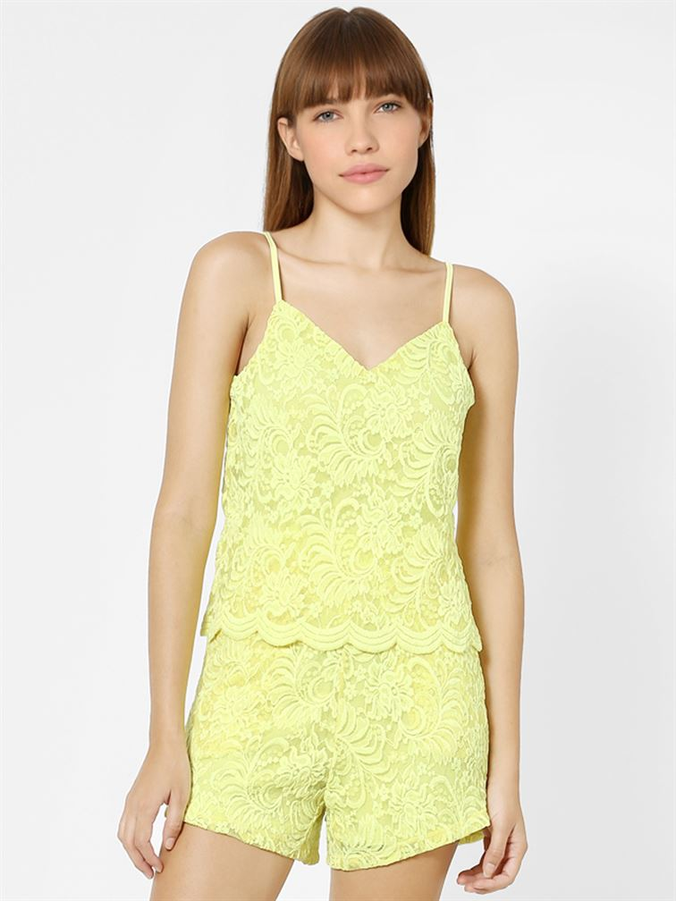 Only Women Casual Wear Yellow Playsuit