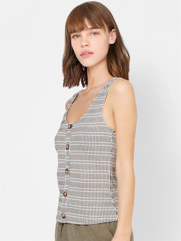 Only Women Casual Wear Grey Top