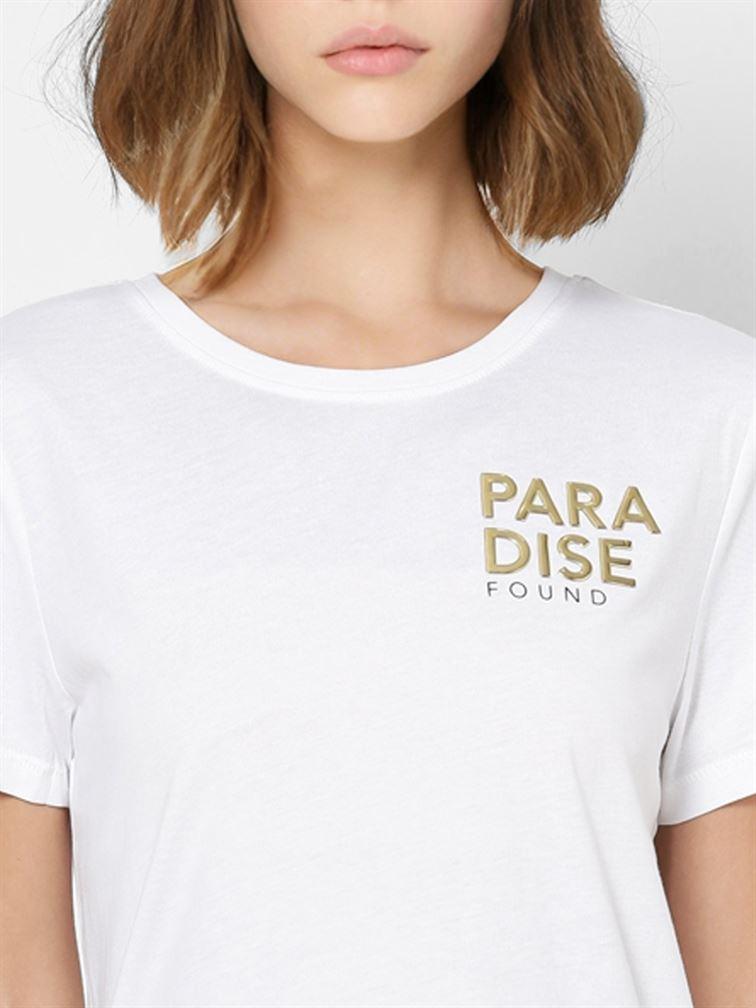 Only Women Casual Wear White T-Shirt