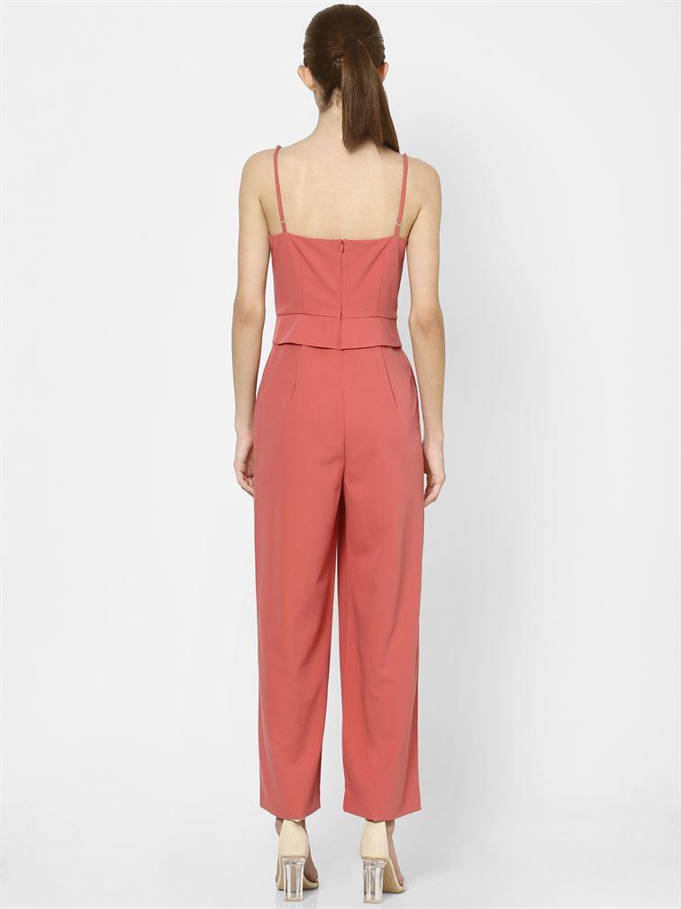 Only Women Casual Wear Peach Jumpsuit