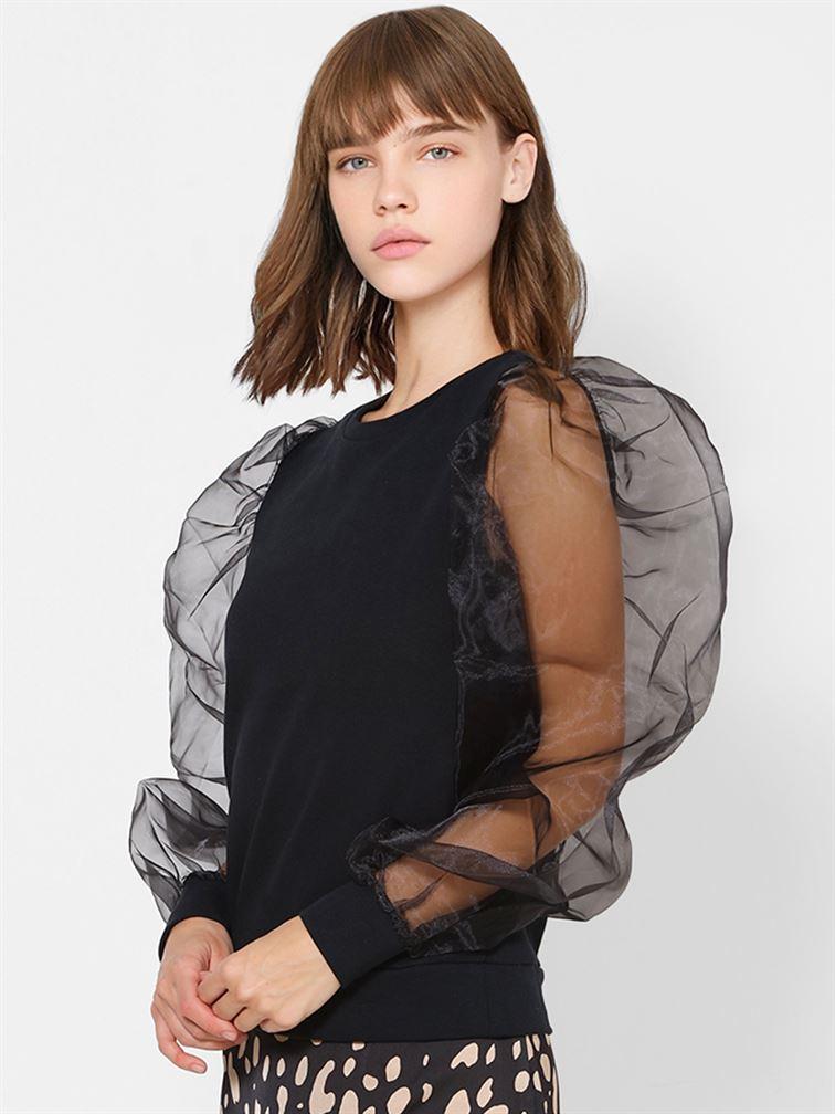 Only Women Casual Wear Black Top