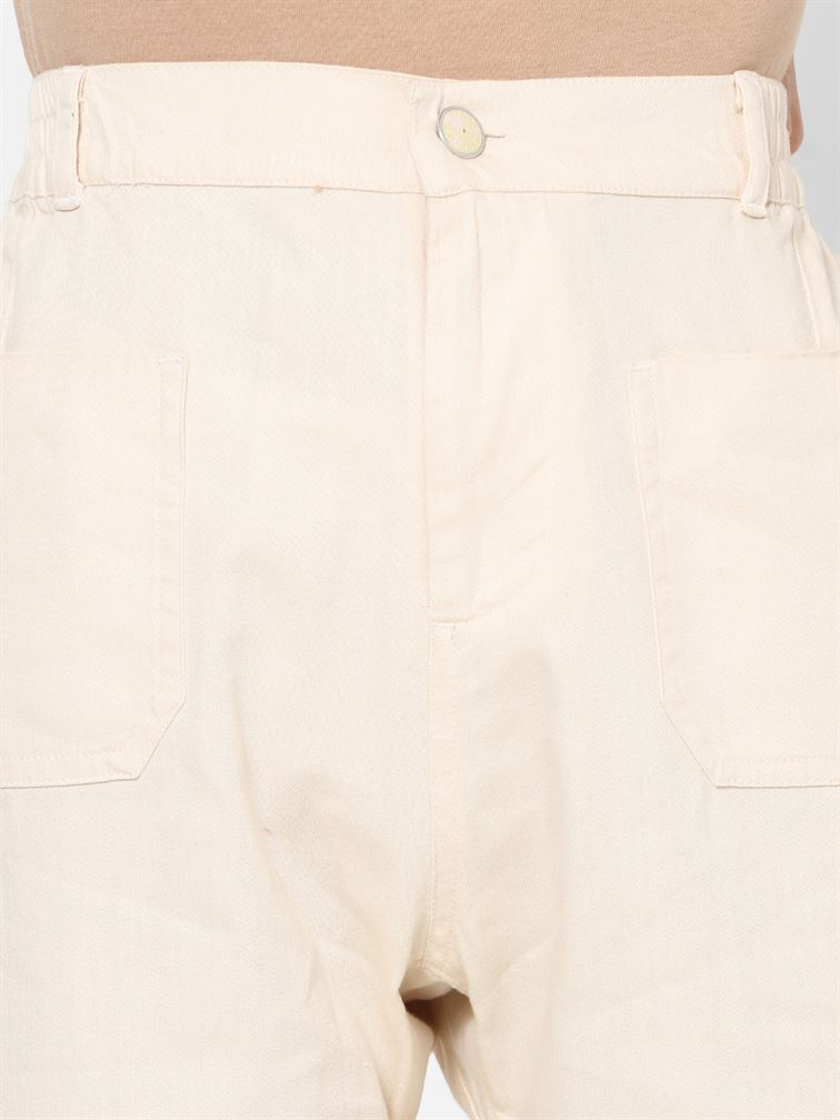 Only Women Casual Wear Off White Trouser