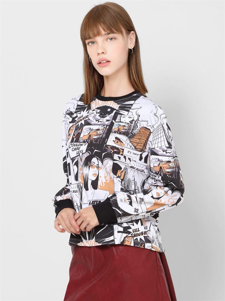 Only Women Casual Wear Multicolor Sweatshirt
