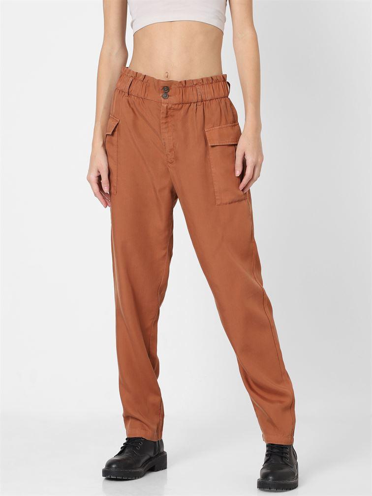 Only Women Casual Wear Brown Trouser