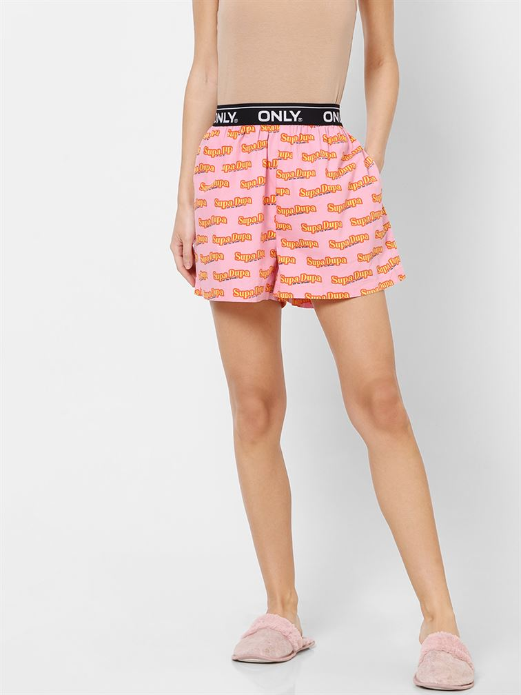 Only Women Casual Wear Pink Nightwear Shorts