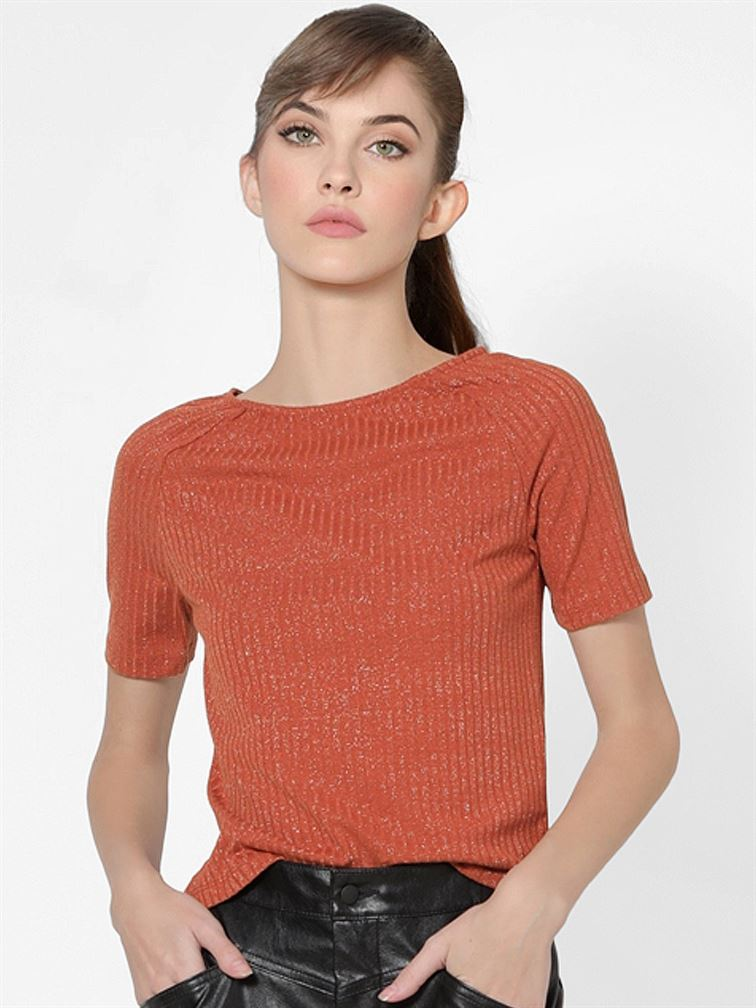 Only Women Casual Wear Red T-Shirt