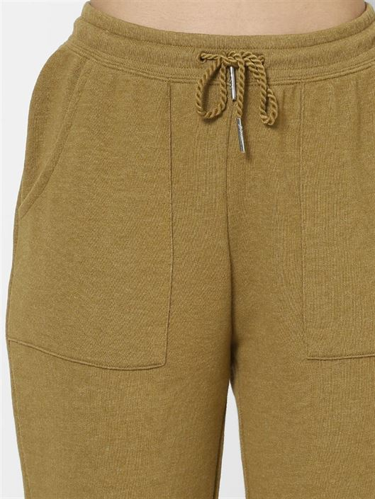 Only Women Casual Wear Olive Trackpants
