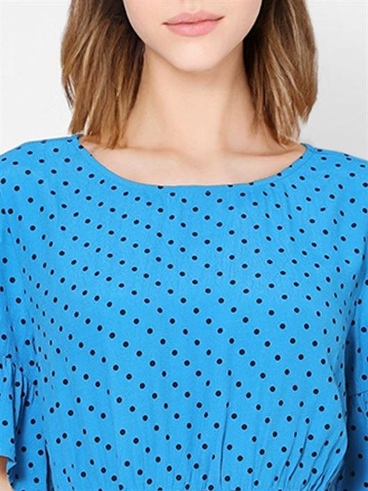 Only Women Casual Wear Blue A-line Dress