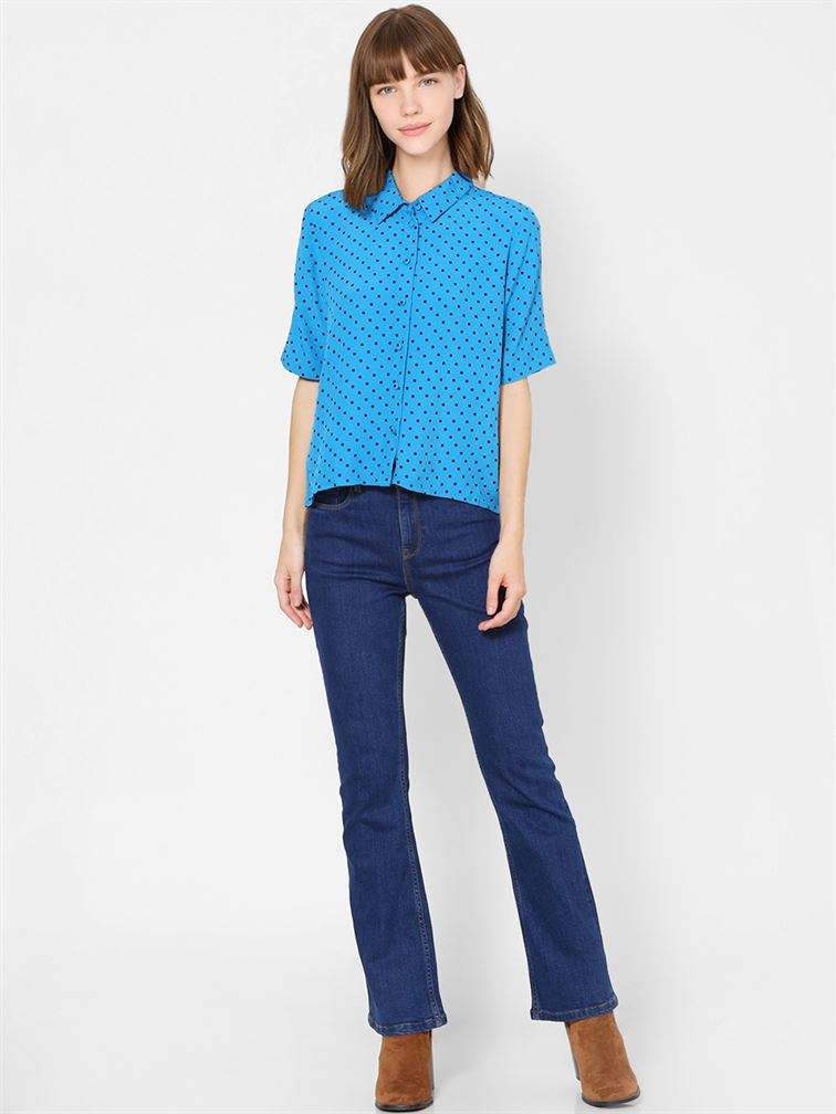 Only Women Casual Wear Blue Shirt