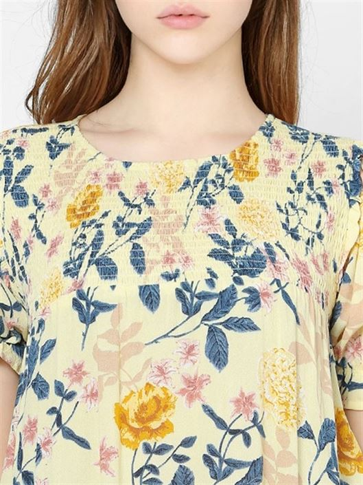 Only Women Casual Wear Yellow Top