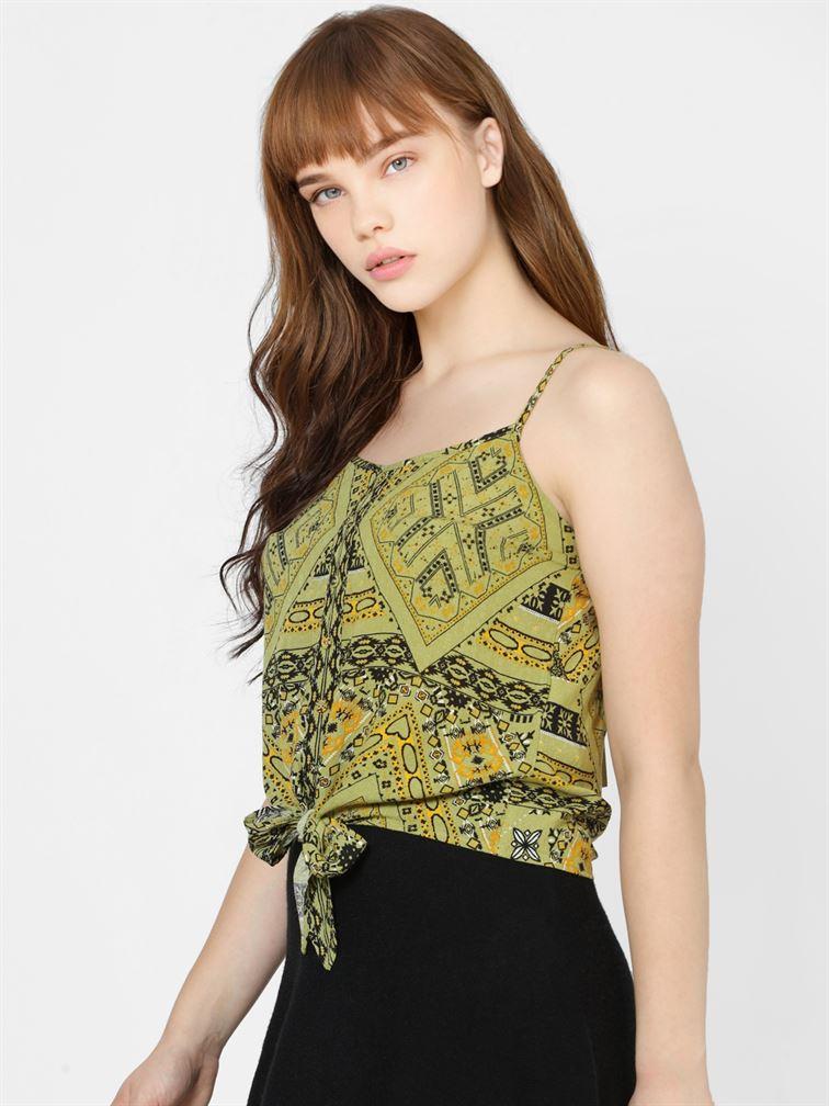 Only Women Casual Wear Green Singlet Top