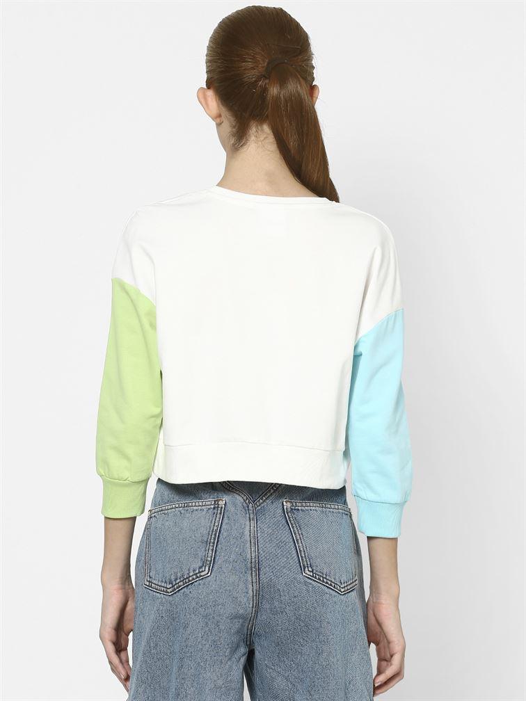 Only Women Casual Wear White Sweatshirt
