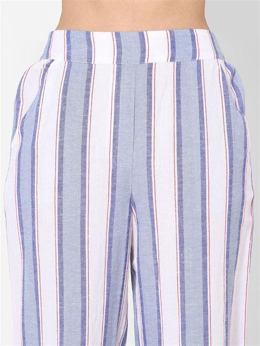 Only Women Casual Wear Blue Trouser