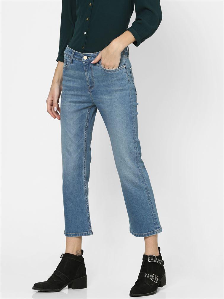 Only Women Casual Wear Blue Flared Jeans