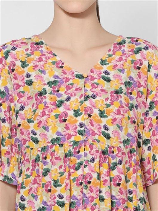 Only Women Casual Wear Multicolor Peplum Top