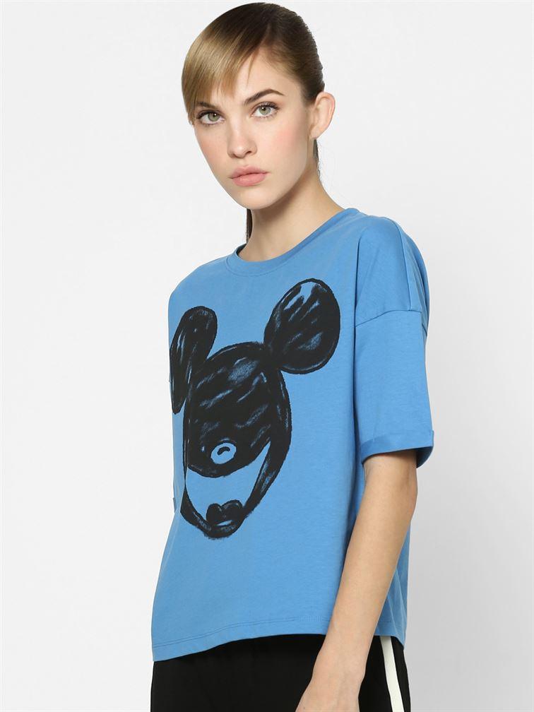 Only Women Casual Wear Blue T-Shirt
