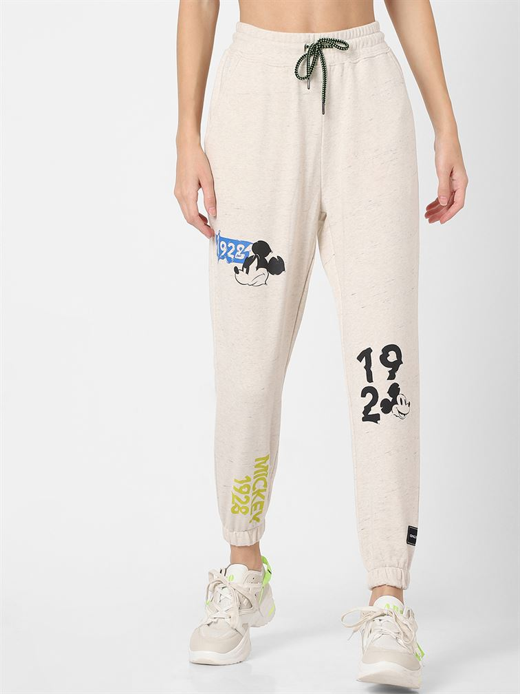 Only Women Casual Wear Off White Jogger