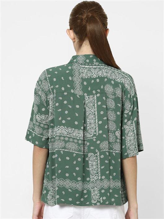 Only Women Casual Wear Green Shirt