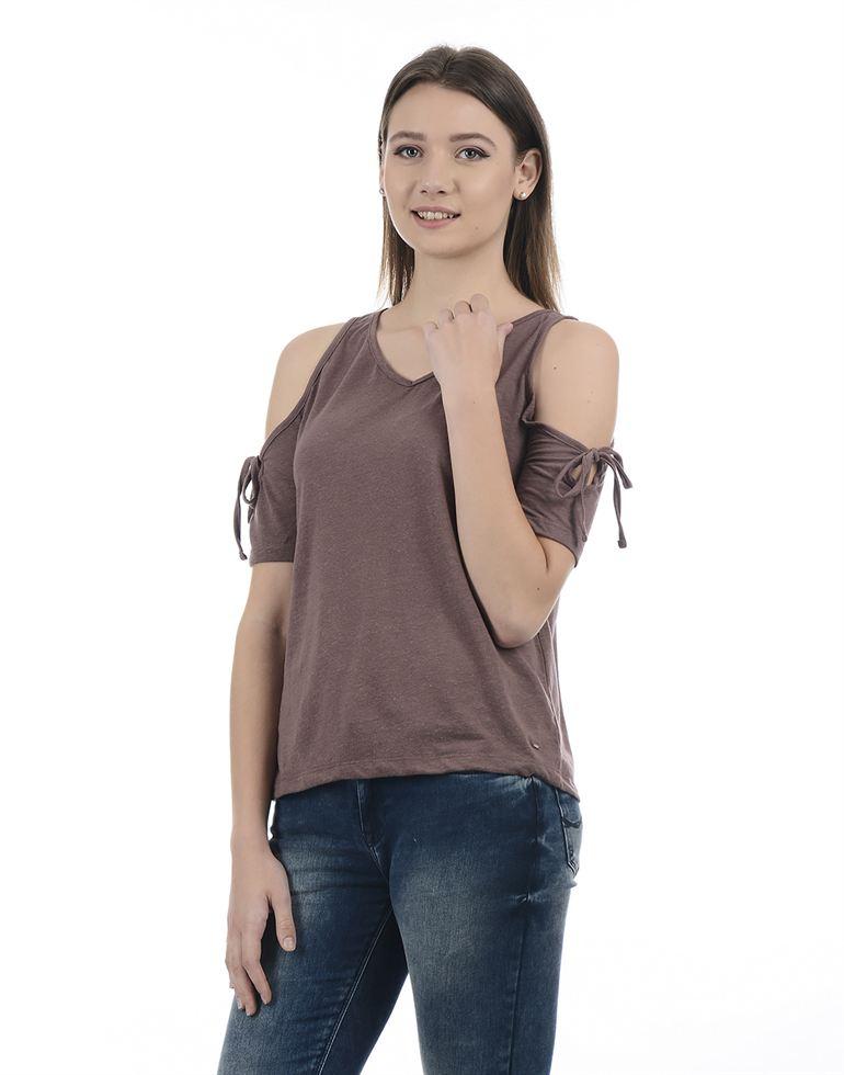 Only Women Casual Wear  T-Shirt