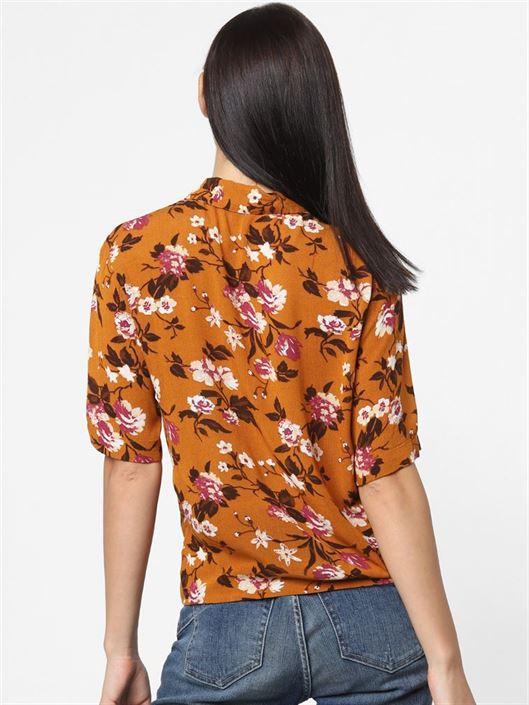 Only Women Casual Wear Brown Shirt