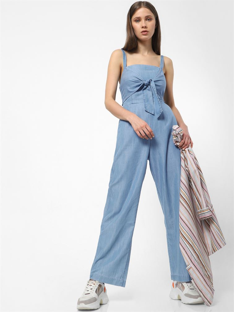 Only Women Casual Wear Blue Jump Suit