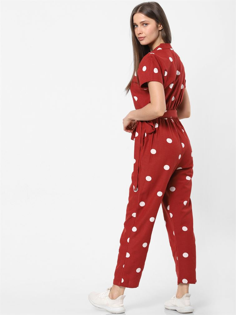 Only Women Casual Wear Red Jump Suit