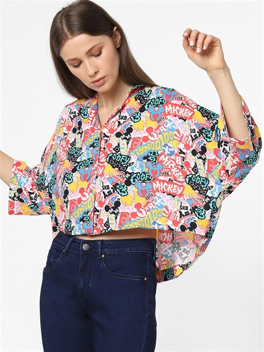 Only Women Casual Wear Multicolor Shirt
