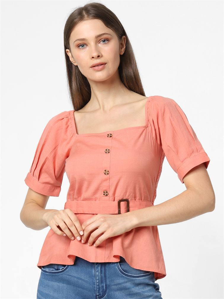 Only Women Casual Wear Pink Top
