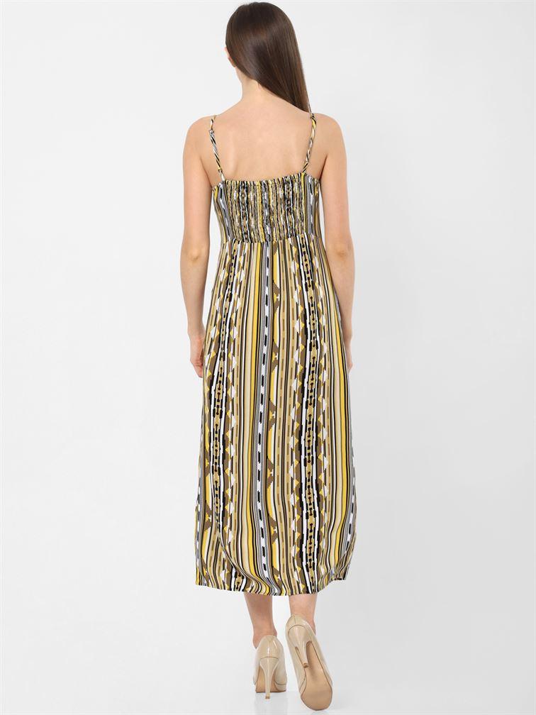 Only Women Casual Wear Multicolor A-Line Dress
