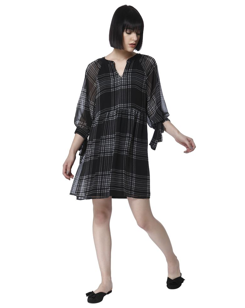 Vero Moda Women Casual Wear Checkered Dress