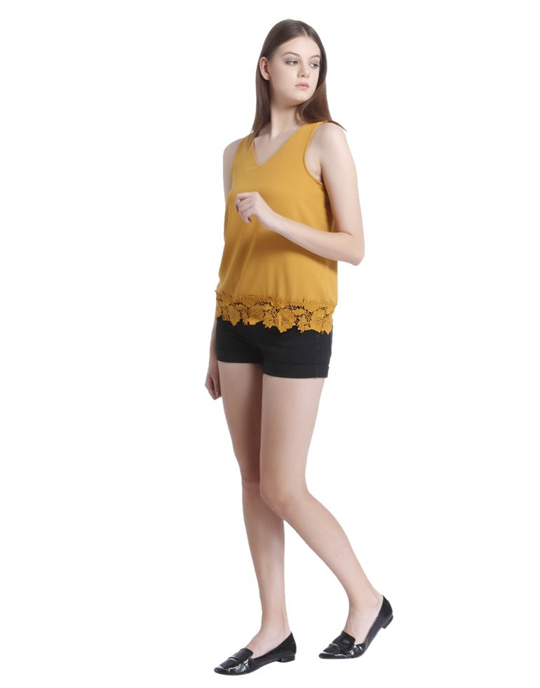 Vero Moda Women's Sleeveless Yellow Top